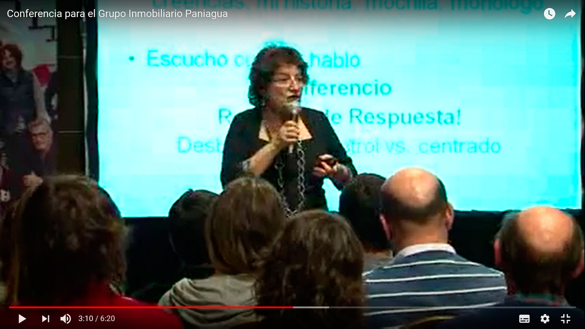Charla de Nora Fusillo en el Hotel Spa República, Mar del Plata